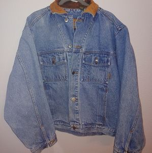 Timberland Denim Jacket with leather Collar